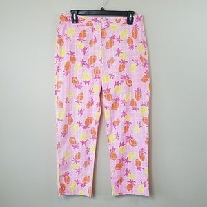 Lilly Pulitzer Pineapple Cropped Pants